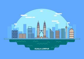 Paesaggio Kuala Lumpur Vector