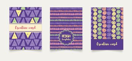 Modello di carte creative etniche. vettore