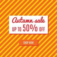 Vendita speciale autunno arancione vettore