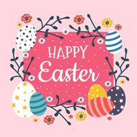 Illustrazione di carta da parati di Pasqua vettore