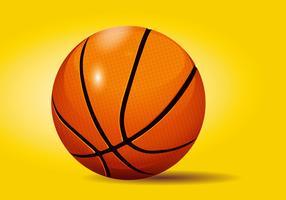 Illustrazione dettagliata di vettore di pallacanestro realistica