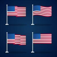 Progettazione di simbolo di vettore del modello della bandiera degli Stati Uniti