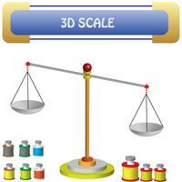 scala e materiali vettore