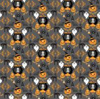 Sfondo di Halloween Modello senza soluzione di continuità