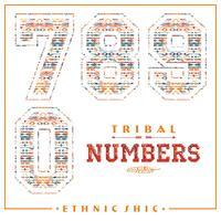 Numeri etnici tribali per magliette, poster, cartoline e altri usi.