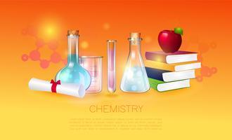 Illustrazione di concetto di educazione e scienza. vettore