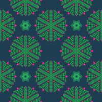 Seamless pattern di fiocchi di neve