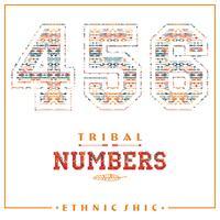 Numeri etnici tribali per magliette, poster, cartoline e altri usi. vettore