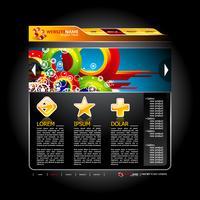 Design del sito Web di vettore. vettore