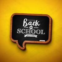 """Back to school design"" sulla lavagna a fumetto"