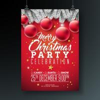 Illustrazione dell'aletta di filatoio del partito di Buon Natale