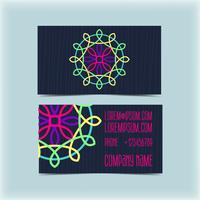 Biglietto da visita con ornamento floreale, monogramma