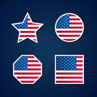 Insieme di elementi di simboli bandiera USA