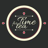 lettering l'ora del tè vettore