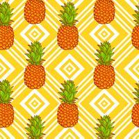 Sfondo di ananas tropicale