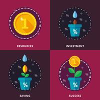 Investimenti, depositi bancari. vettore