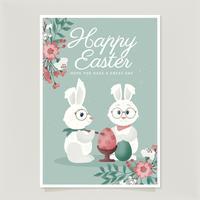Modello di carta di Pasqua vettoriale