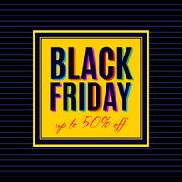 Design del poster di vendita del Black Friday vettore