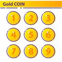 Icona moneta d'oro. vettore
