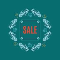 Luminoso banner di vendita di Natale