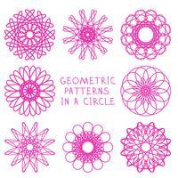 Ornamenti geometrici rotondi vettore