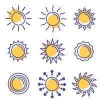 pacchetto di icone vettoriali di sole
