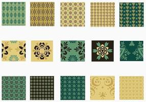 Emerald and Gold Pattern Pattern Pack