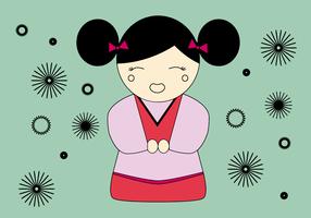 Geisha vettoriale gratuito