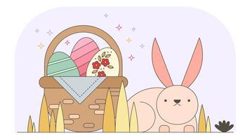 vettore di carta da parati di Pasqua coniglietto