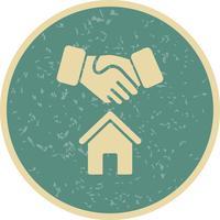 Icona di vettore di casa affare