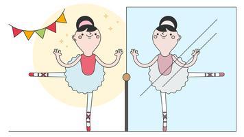 Vettore classico della ballerina