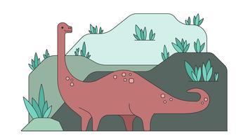 Vettore del brontosauro del dinosauro