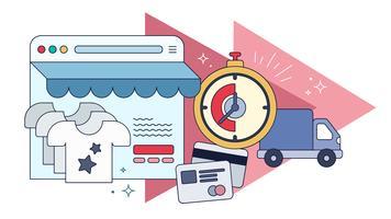 Shopping online vettoriale