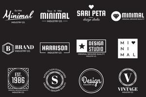 Logo vettoriale minimal per banner