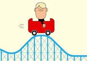 Roller Coaster gratuito vettore