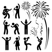Festival di eventi per feste. vettore