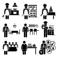 Carriera Culinaria Lavoro Occupazioni Carriere. vettore