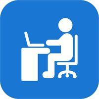 Vector utilizzando l'icona del laptop