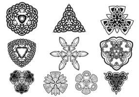 Pacchetto di ornamenti celtici vettoriale