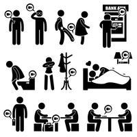 Icone di pittogrammi di figura segreta di registrazione nascosta telecamera spia nascosta.