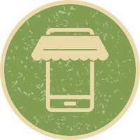 Icona dello shopping online vettoriale