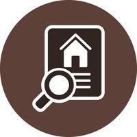 Icona di vettore di ricerca di proprietà
