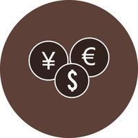 Icona di valute vettoriale