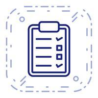 Icona di lista di controllo vettoriale