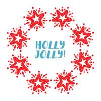 Corona di stelle di Natale isolata su fondo bianco