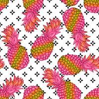 Modello senza cuciture alla moda creativo di ananas vettore