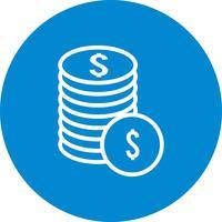 Icona di monete di vettore