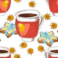 Struttura senza giunte tazza di tè vettore