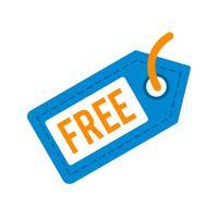 Icona di tag libero vettoriale