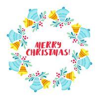 Corona di Natale isolato su sfondo bianco vettore